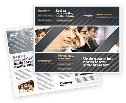 Call Center Brochure Template, 05070, Careers/Industry — PoweredTemplate.com