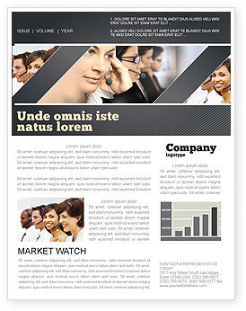 Careers/Industry: Call Center Newsletter Template #05070
