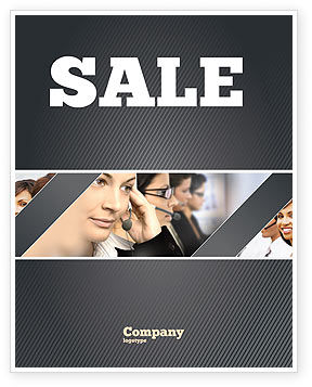 Careers/Industry: Call Center Sale Poster Template #05070