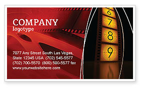 Careers/Industry: Cinema Strip Business Card Template #05073