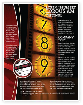 cinema strip flyer template 05073 careersindustry poweredtemplatecom