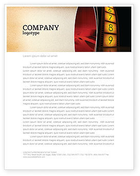 Cinema Strip Letterhead Template, 05073, Careers/Industry — PoweredTemplate.com