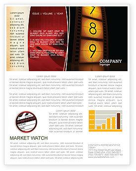 Cinema Strip Newsletter Template, 05073, Careers/Industry — PoweredTemplate.com