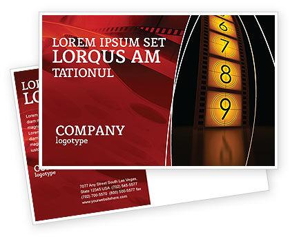 Cinema Strip Postcard Template, 05073, Careers/Industry — PoweredTemplate.com