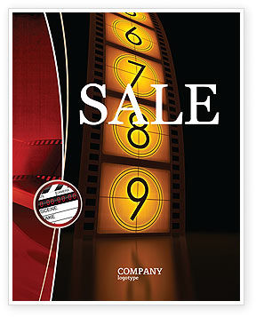 Careers/Industry: Cinema Strip Sale Poster Template #05073