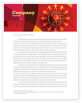 Religious/Spiritual: Love World Letterhead Template #05075
