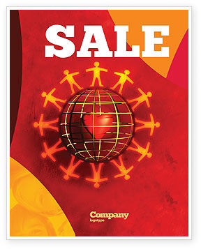 Love World Sale Poster Template, 05075, Religious/Spiritual — PoweredTemplate.com