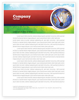 Fuel Meter Letterhead Template, 05077, Careers/Industry — PoweredTemplate.com