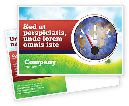 Fuel Meter Postcard Template, 05077, Careers/Industry — PoweredTemplate.com
