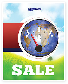 Careers/Industry: Fuel Meter Sale Poster Template #05077
