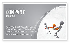 Contradiction Business Card Template, 05078, Consulting — PoweredTemplate.com