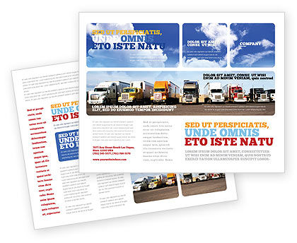 Cars/Transportation: Trucks Brochure Template #05080