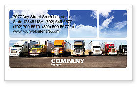 Trucks Business Card Template, 05080, Cars/Transportation — PoweredTemplate.com