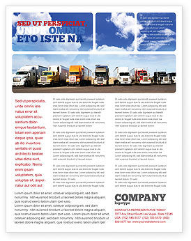 Trucks Flyer Template, 05080, Cars/Transportation — PoweredTemplate.com