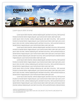 Trucks Letterhead Template Layout For Microsoft Word