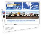 Cars/Transportation: トラック - はがきテンプレート #05080