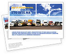 Cars/Transportation: Trucks Postcard Template #05080