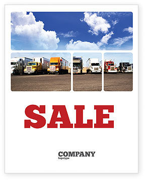 Trucks Sale Poster Template, 05080, Cars/Transportation — PoweredTemplate.com
