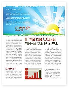 Sunrise Illustration Newsletter Template