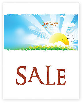 Sunrise Illustration Sale Poster Template, 05081, Nature & Environment — PoweredTemplate.com