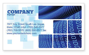 Technology, Science & Computers: Data Transfer Wave Business Card Template #05082