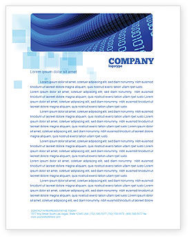 Technology, Science & Computers: Data Transfer Wave Letterhead Template #05082