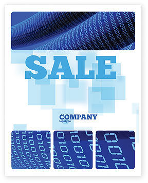 Technology, Science & Computers: Data Transfer Wave Sale Poster Template #05082