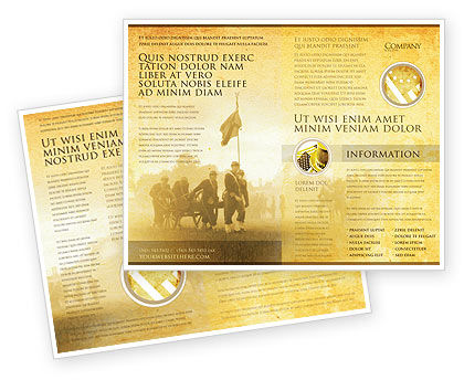 Military: American Civil War Brochure Template #05086
