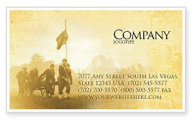 Military: American Civil War Business Card Template #05086