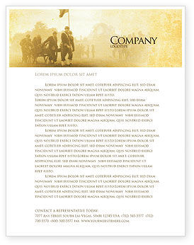 American Civil War Letterhead Template, 05086, Military — PoweredTemplate.com