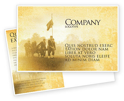 Military: American Civil War Postcard Template #05086