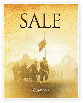 Military: American Civil War Sale Poster Template #05086