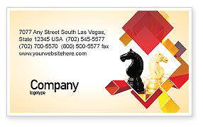 Consulting: Knight Move Business Card Template #05089