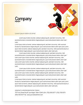 Consulting: Knight Move Letterhead Template #05089