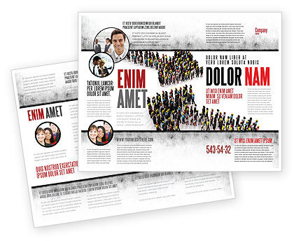 Consulting: Moving Crowd Brochure Template #05097