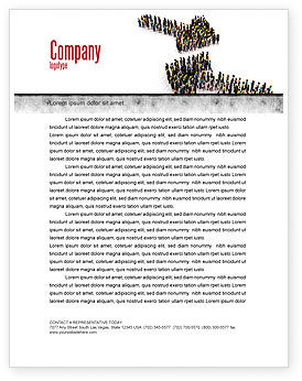 Moving Crowd Letterhead Template, 05097, Consulting — PoweredTemplate.com