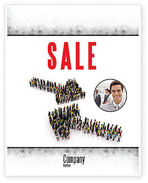 Moving Crowd Sale Poster Template