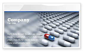 Medical: Pharmacological Solution Business Card Template #05100