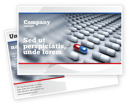 Pharmacological Solution Postcard Template, 05100, Medical — PoweredTemplate.com