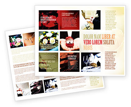 Wedding Brochure Template, 05101, Holiday/Special Occasion — PoweredTemplate.com