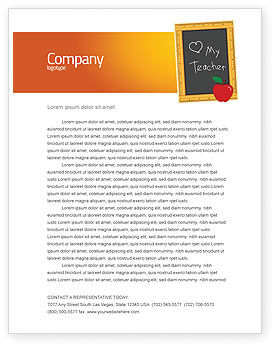 Education & Training: I Love My Teacher Letterhead Template #05109