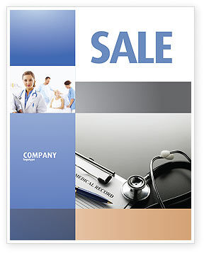 Medical Record Blank Sale Poster Template, 05110, Medical — PoweredTemplate.com
