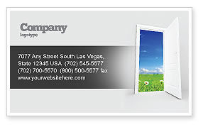 Exit Business Card Template