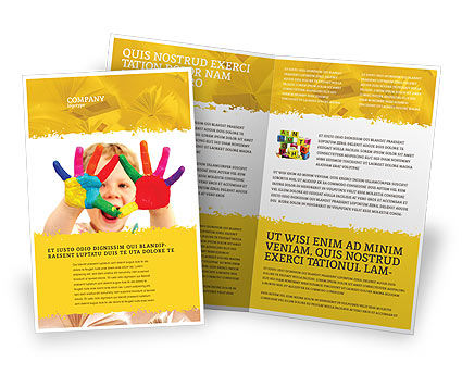 Colored Lines Brochure Template Design And Layout Download Now