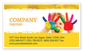 Colored Lines Business Card Template