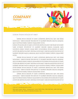 People: Colored Lines Letterhead Template #05112