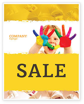 People: Colored Lines Sale Poster Template #05112