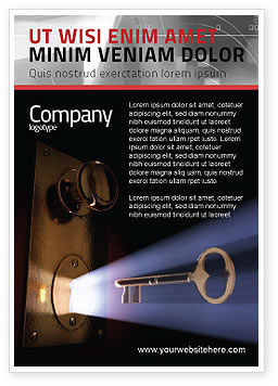 Consulting: Keyhole With Light Beam Ad Template #05113