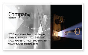 Consulting: Keyhole With Light Beam Business Card Template #05113