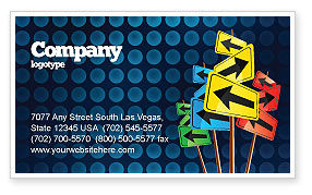 Various Directions Business Card Template, 05114, Business Concepts — PoweredTemplate.com
